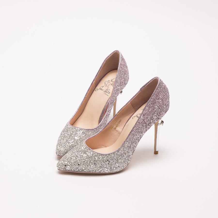 白雪公主璀璨漸層碎石跟鞋