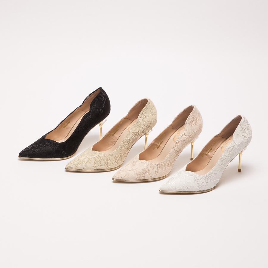 鞋,婚鞋,公主 婚鞋,GRACEGIFT,迪士尼公主系列婚鞋,迪士尼公主系列,迪士尼 公主系列 婚鞋,迪士尼 婚鞋,手工婚鞋,仙杜瑞拉典雅蕾絲水晶跟鞋8cm